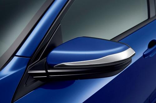 ドアミラーガーニッシュ(クロームメッキ/左右セット)Premium Sporty for HATCHBACK 新型シビックハッチバグ