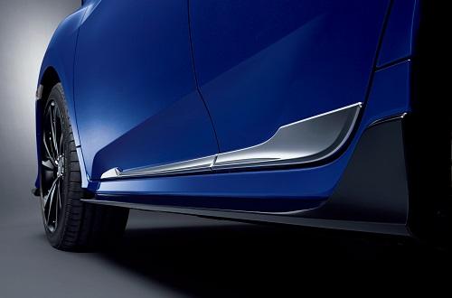 ドアロアガーニッシュ(クロームメッキ/フロント・リア用左右4枚セット)Premium Sporty for HATCHBACK 新型シビックハッチバッグ