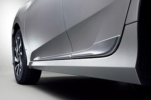 新型シビックセダン ドアロアガーニッシュ(クロームメッキ/フロント・リア用左右4枚セット)Premium Sporty for SEDAN