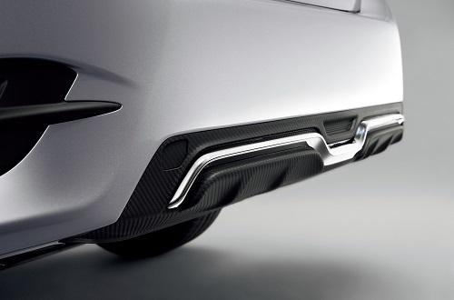 新型シビックセダン リアディフューザー(カーボン調/クロームメッキ)Premium Sporty for SEDAN