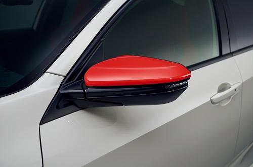 ホンダ新型シビックタイプR ドアミラーカバー(左右セット)フレームレッド