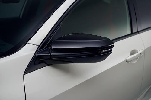 ホンダ新型シビックタイプR ドアミラーカバー(左右セット)クリスタルブラック・パール