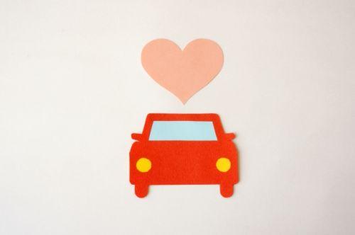 車とハート
