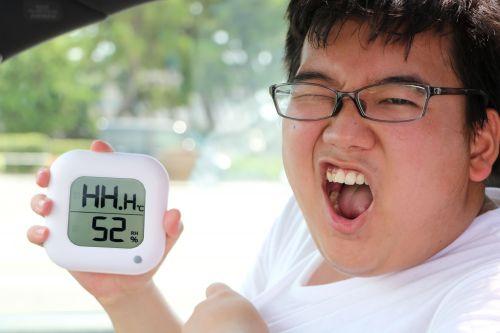 温度計を持つ章太郎