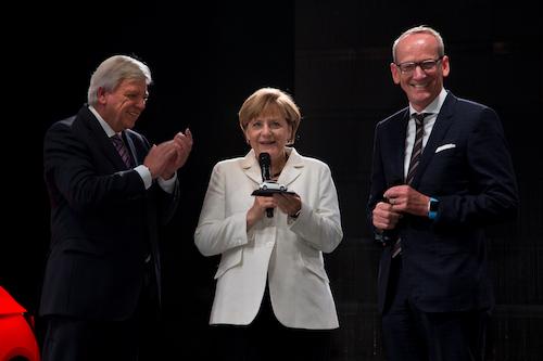 2015年 フランクフルトモーターショー メルケル首相