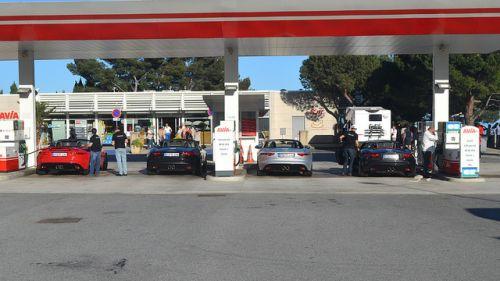 ジャガー ガソリンスタンド 給油