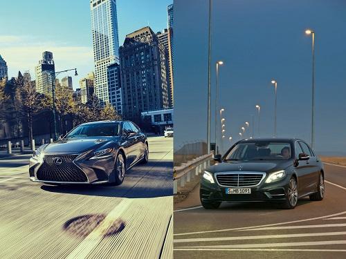 """2017年 レクサスLS500h """"version L"""" 2013年 メルセデスベンツ S 350 BlueTEC"""