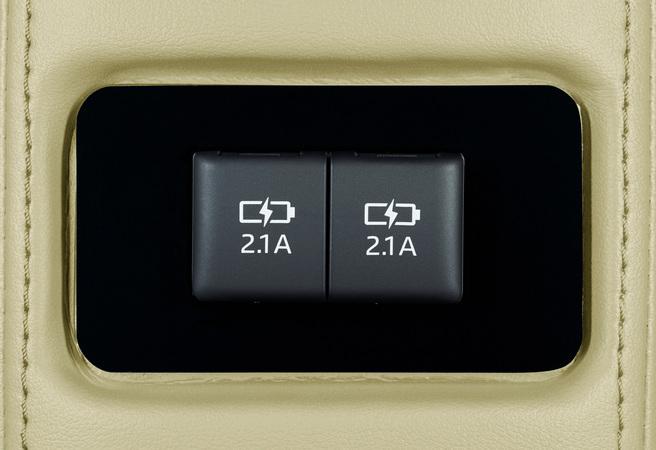 リヤコンソール USB充電端子