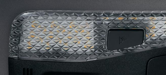 新型 ヴェルファイア モデリスタ LEDルームランプセット(サテンゴールド/クリスタルレンズタイプ) レンズアップ