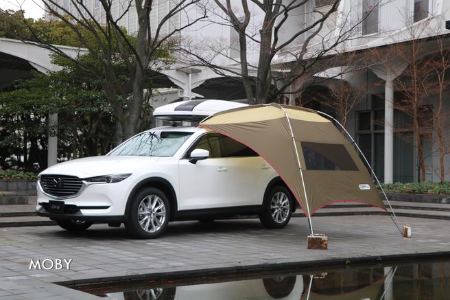 マツダ新型CX-8試乗会 サイドタープ(純正オプション)
