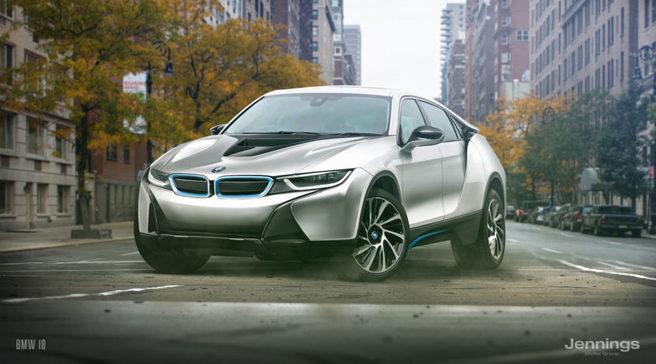 BMW i8 SUVモデル 予想レンダリングCG