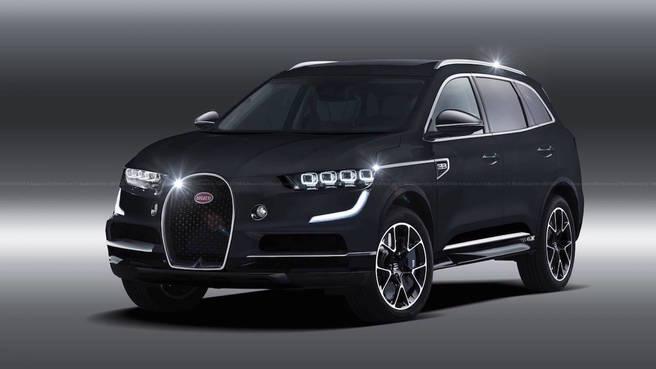ブガッティ 新型SUV レンダリングCG