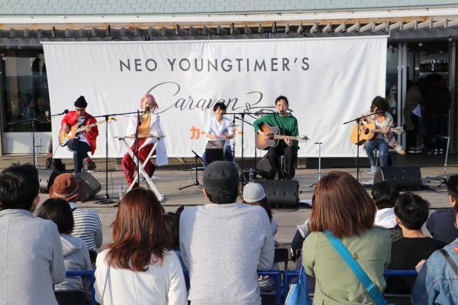 ネオ・ヤングタイマーズ キャラバン Awesome City Club ライブ