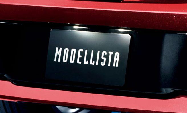新型カローラスポーツ モデリスタ LEDライセンスランプ