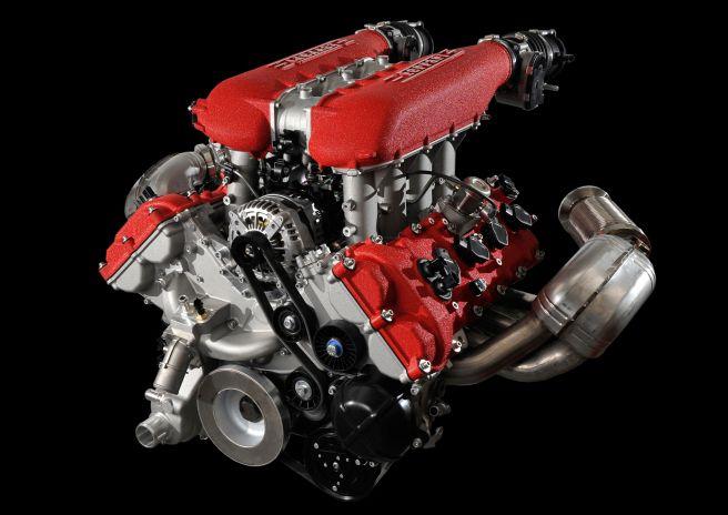 フェラーリ458イタリア_エンジン