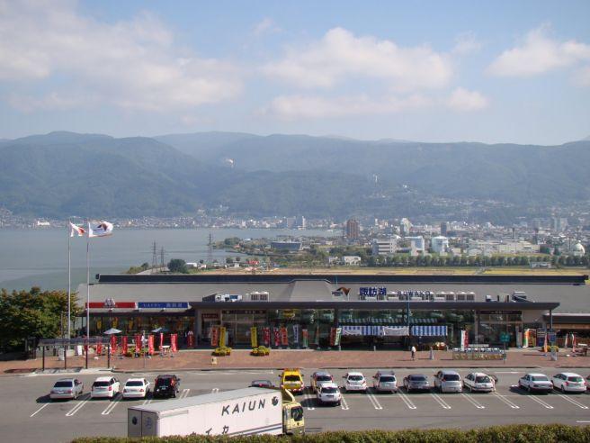 諏訪湖サービスエリア 外観 長野県