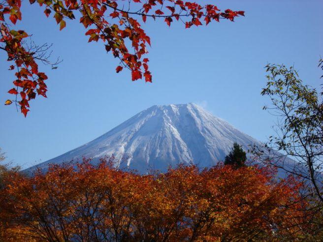 ペンギン村オートキャンプ場富士山画像