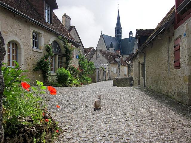 フランスの街並み 石畳