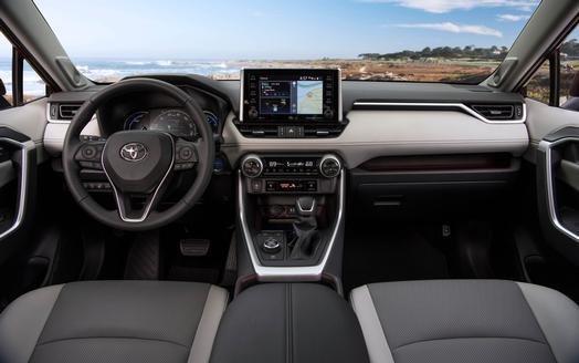 トヨタ RAV4 北米仕様 リミテッド ハイブリッド 2019年 インパネ