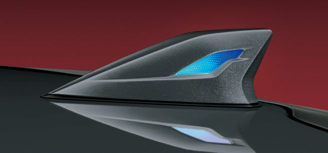 新型プリウス モデリスタ LEDトップノットアンテナ
