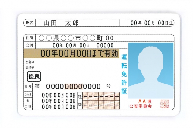運転免許証 イメージ