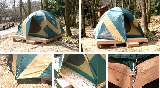 奥琵琶湖キャンプ場 常設テントサイト