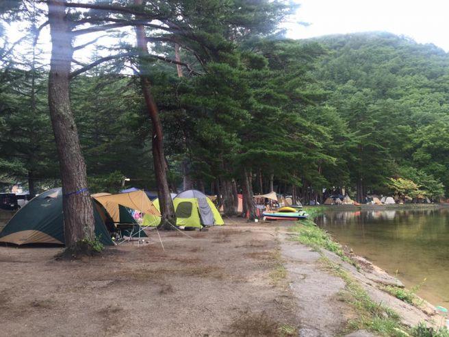 木崎湖キャンプ場 フリーサイト