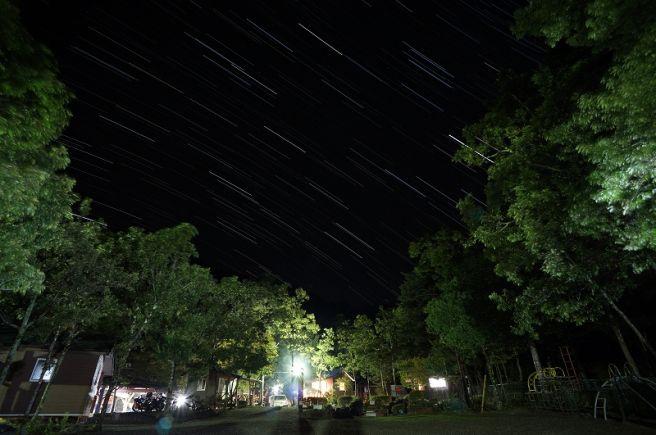 篠沢大滝キャンプ場 夜景