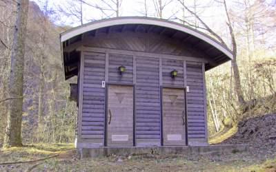 四徳温泉キャンプ場 屋外トイレ