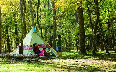 四徳温泉キャンプ場 長野県