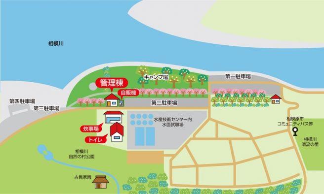 上大島キャンプ場 マップ
