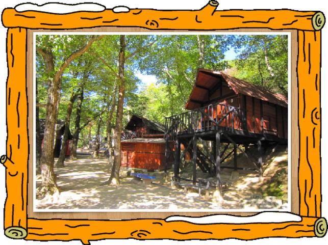 一里松キャンプ場 ロッジ