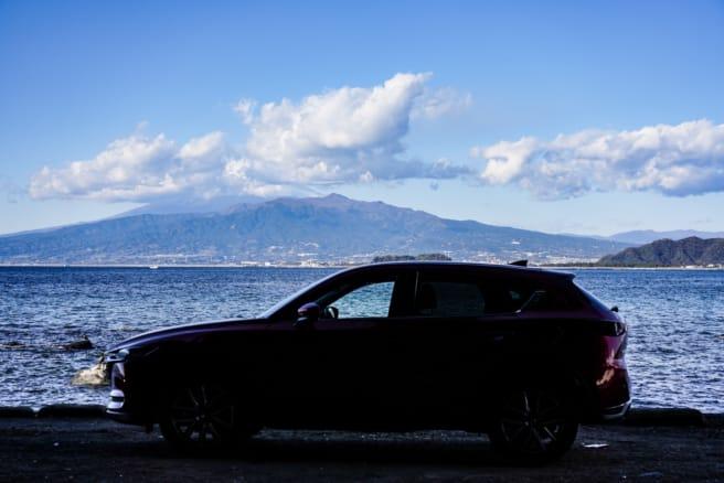【マツダ CX-5 25T】遠景に富士山