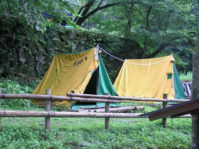 木のむらキャンプ場 常設テントサイト