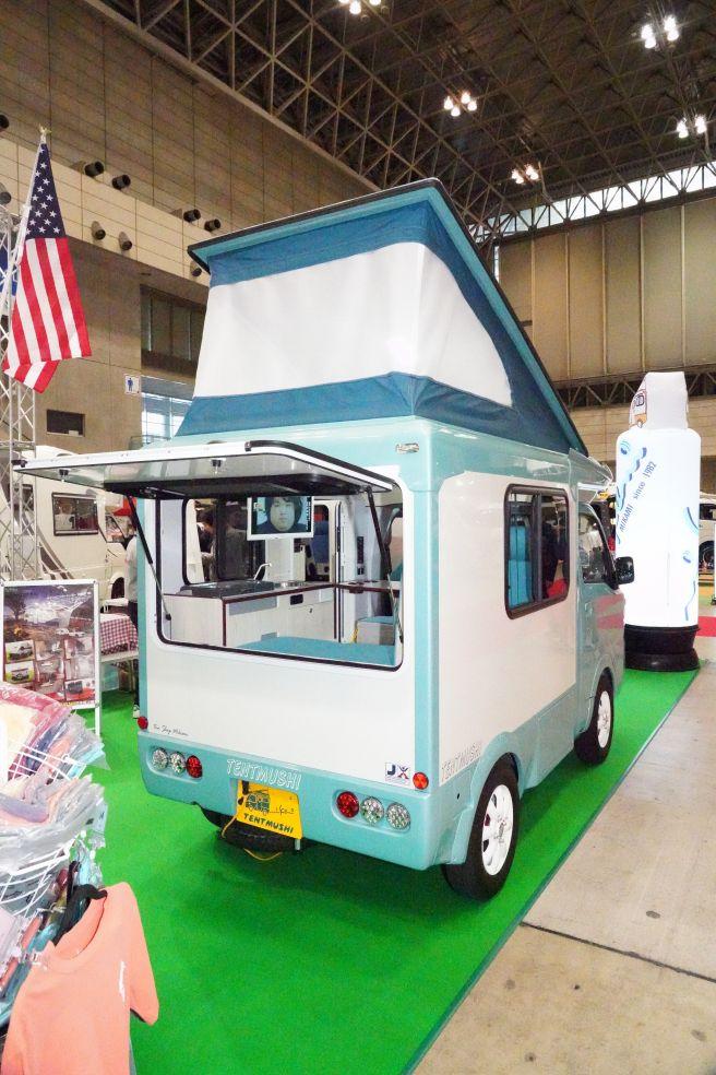 ジャパンキャンピングカーショー2019 バンショップミカミ テントむし