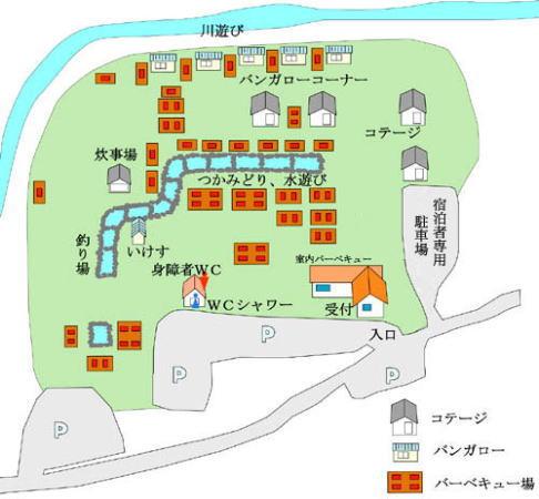 清川リバーランド 全体図