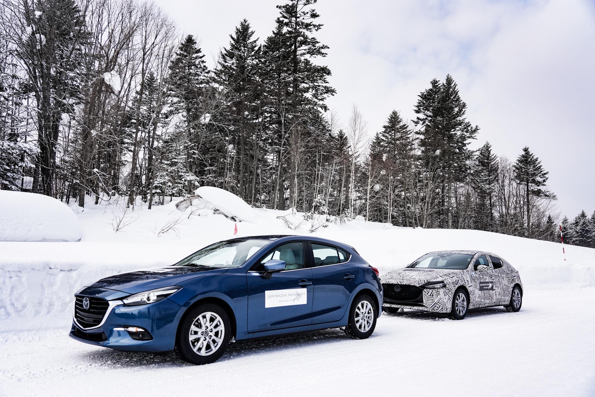 マツダ雪上取材会(2019) 新型Mazda3(次期型アクセラ)