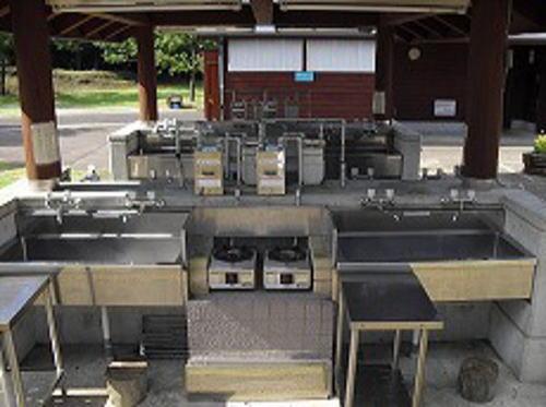 ひなもりオートキャンプ場 炊事場