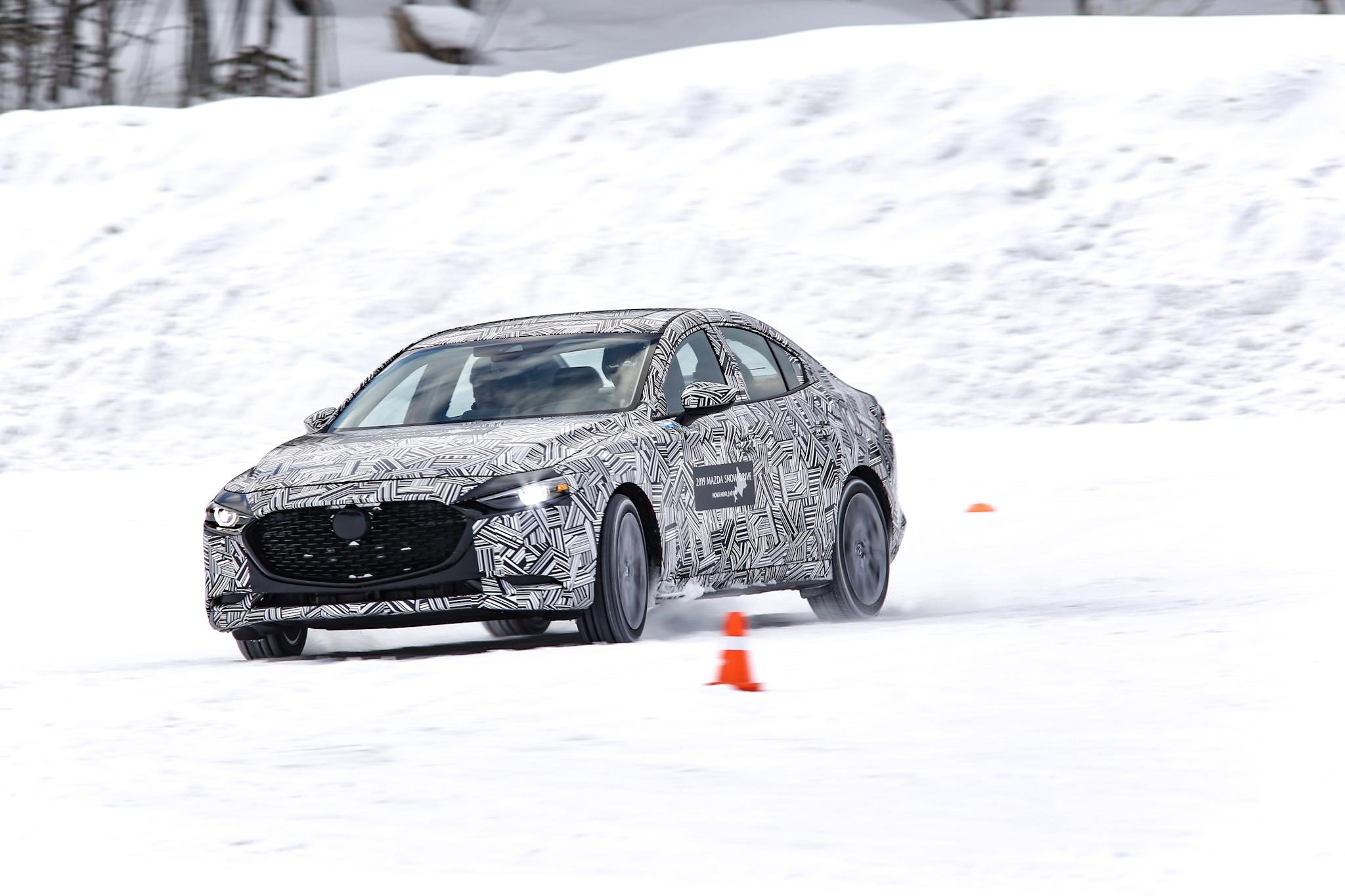 マツダ雪上取材会(2019)新型MAZDA3 北米仕様の開発車をテストドライブ