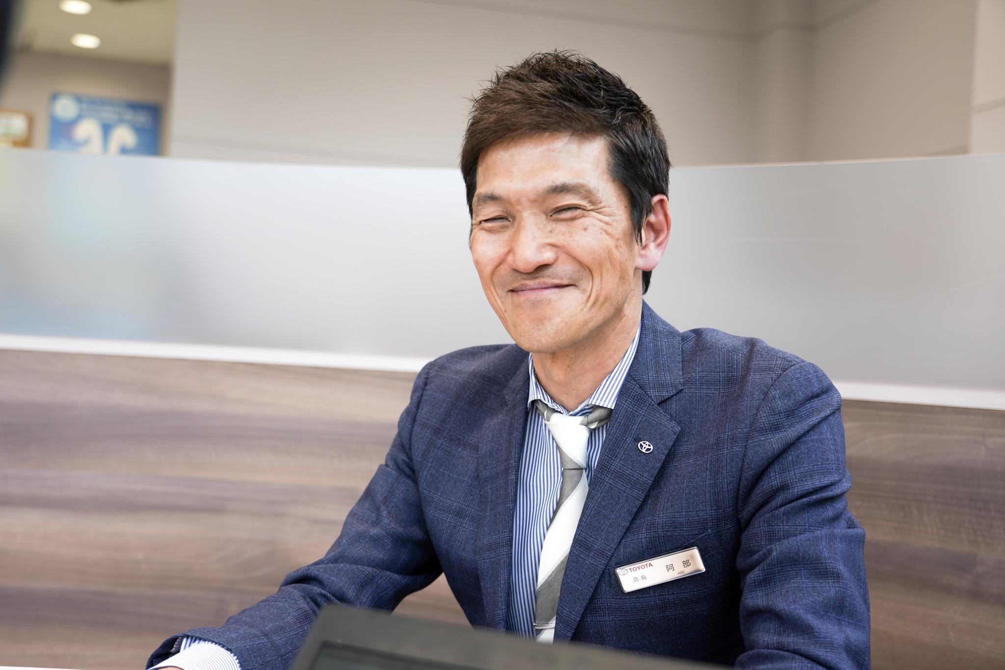 トヨタモビリティ東京 葛飾白鳥店 店長 阿部さん