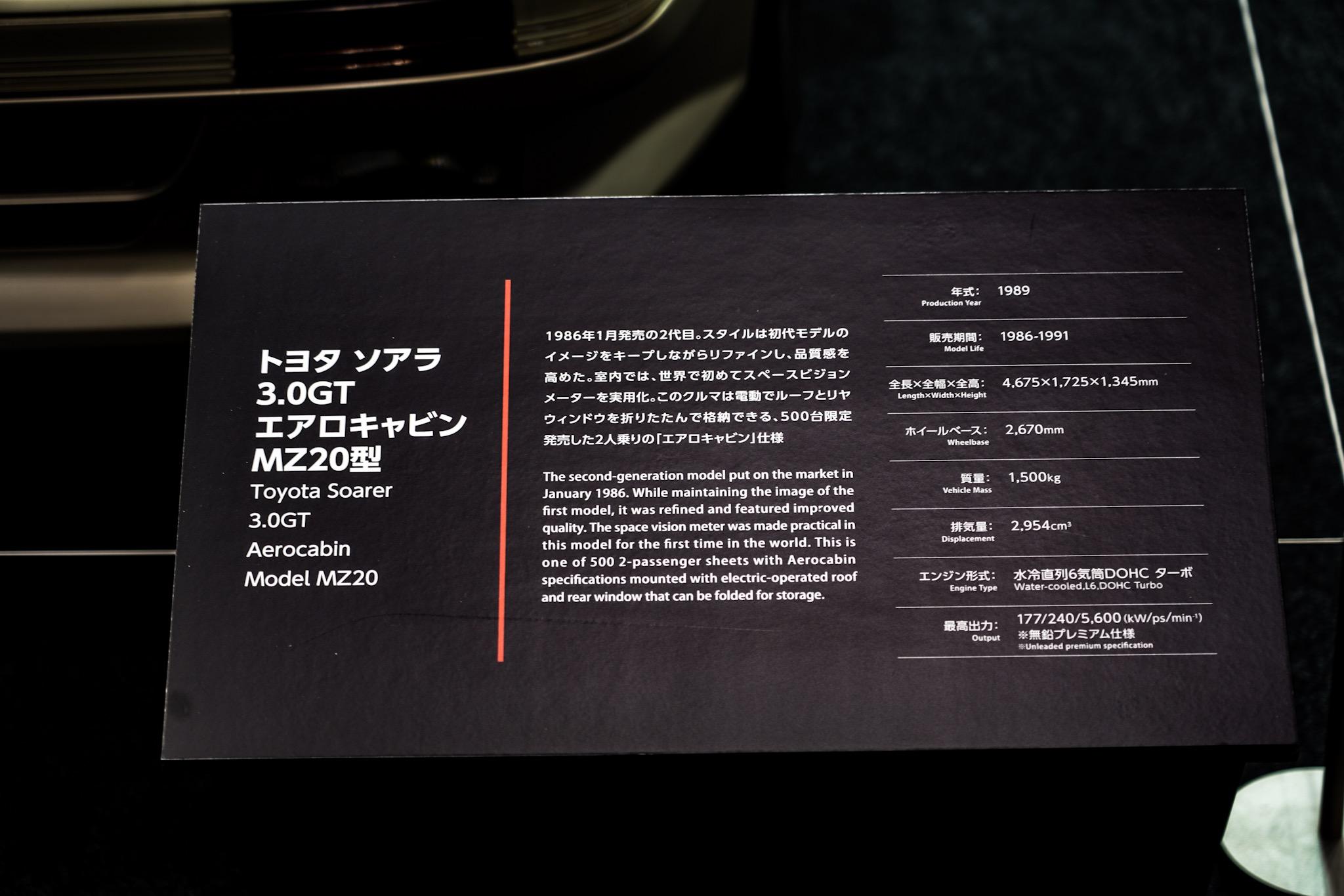トヨタ ソアラ 3.0GTエアロキャビン オートモビルカウンシル2019