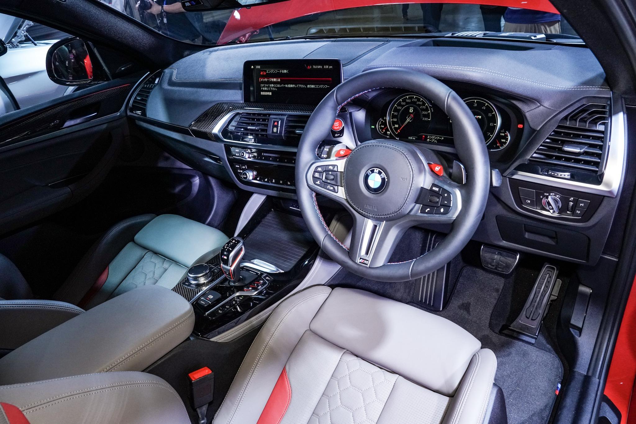 BMW X4 M 運転席