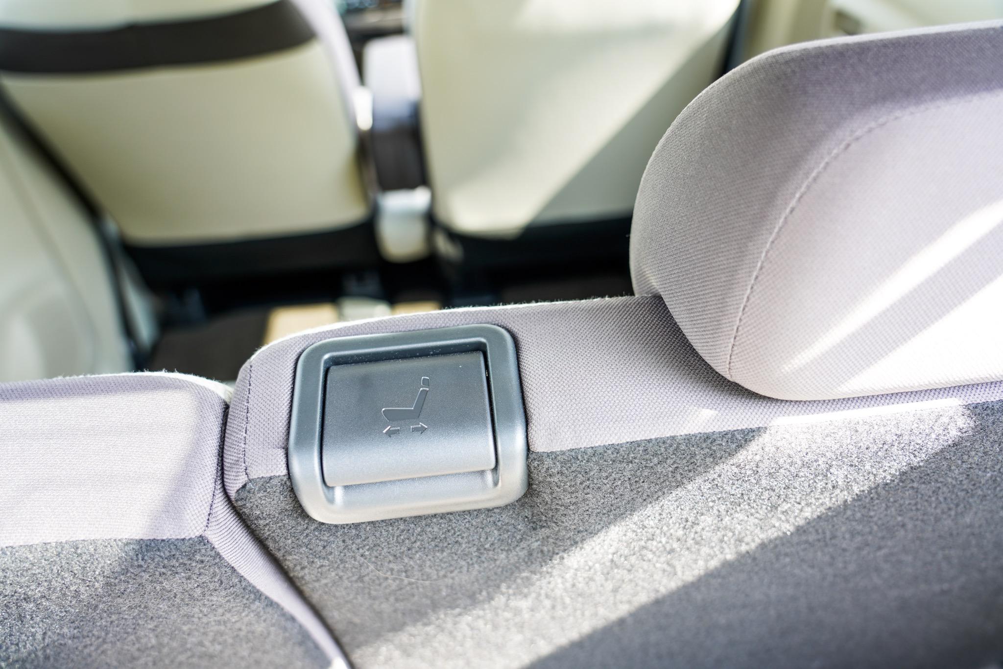 日産 デイズ 試乗レポート 座席シートレバー