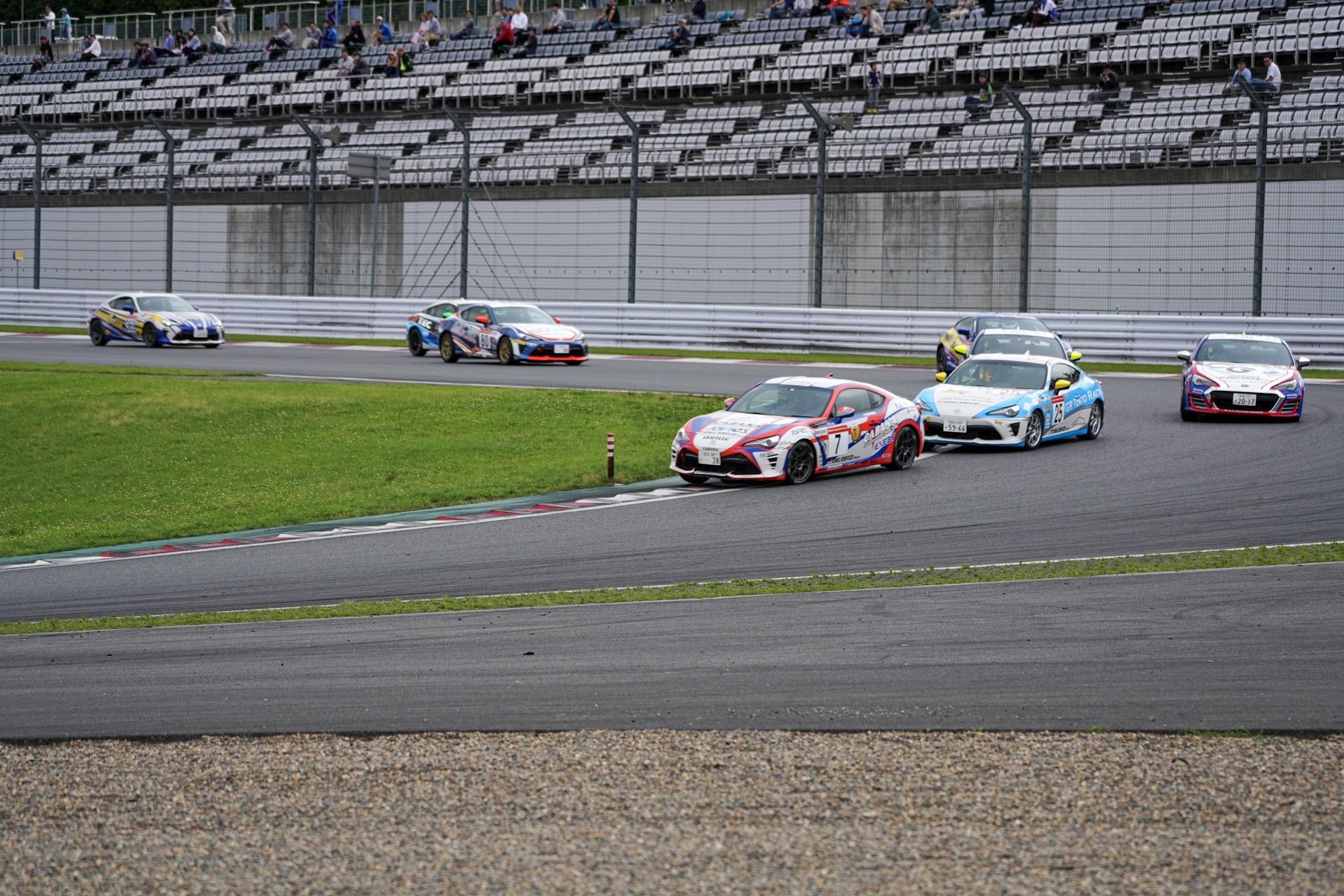 86/BRZレース・プロフェッショナルシリーズ第5戦 3ラップ 第1コーナー