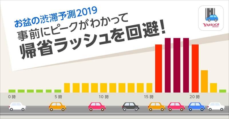 Yahoo!カーナビ お盆の渋滞予測2019