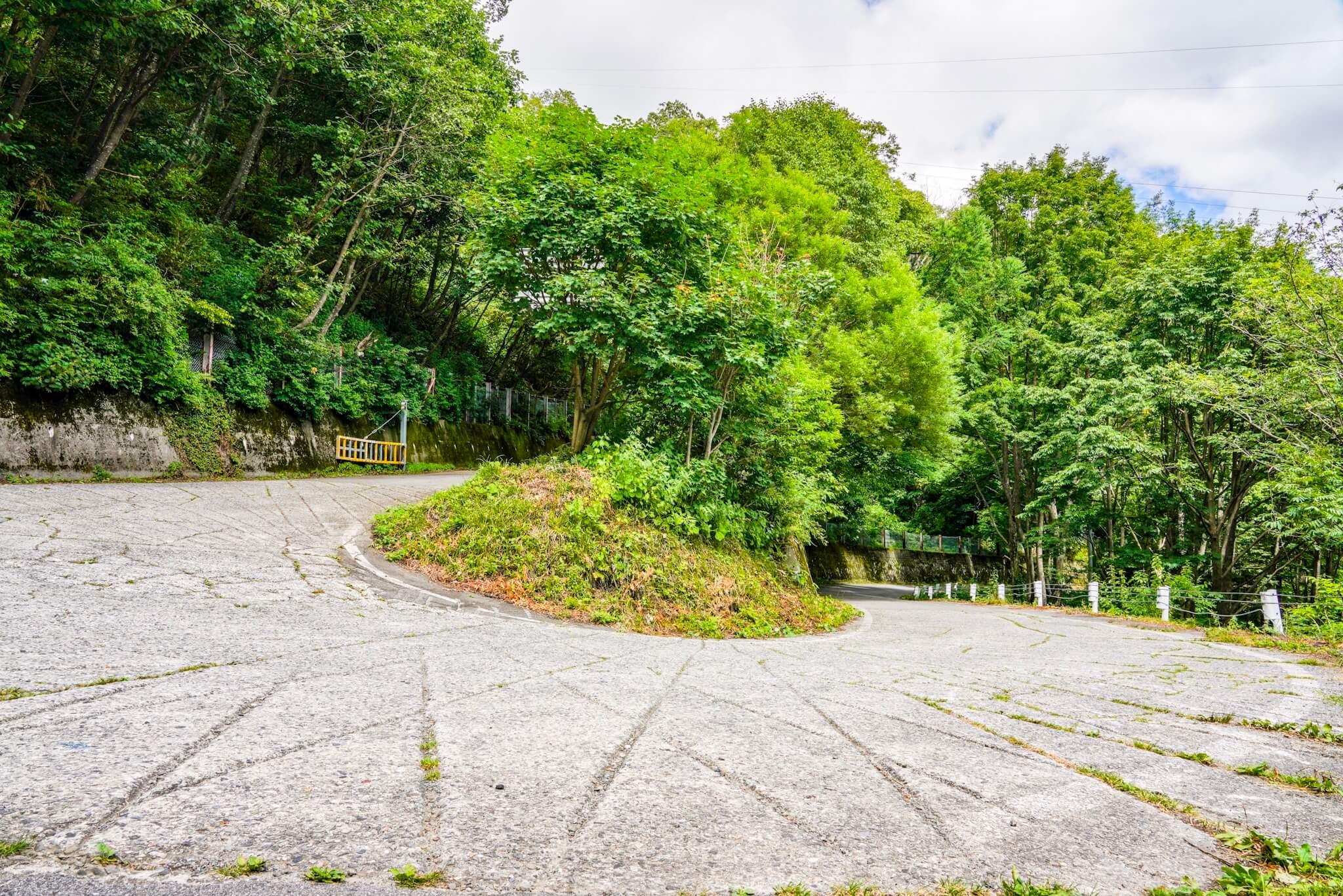 長野県側の安房峠