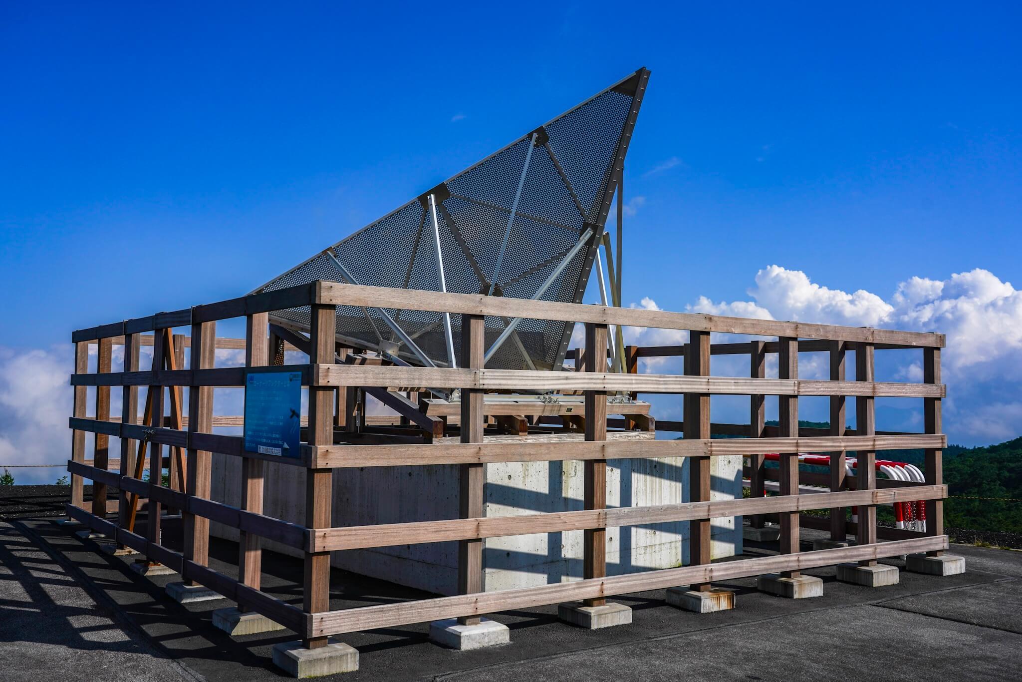 富士山スカイライン新五合目駐車場 コーナーリフレクター