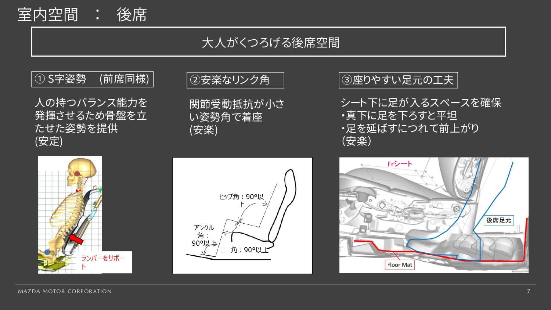 マツダ CX-30 後席シートのくつろぎ