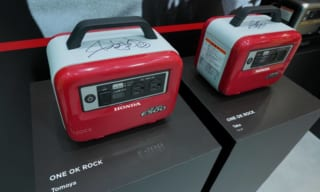 ワンオクのサイン入り ホンダ蓄電池が展示中!東京モーターショー2019