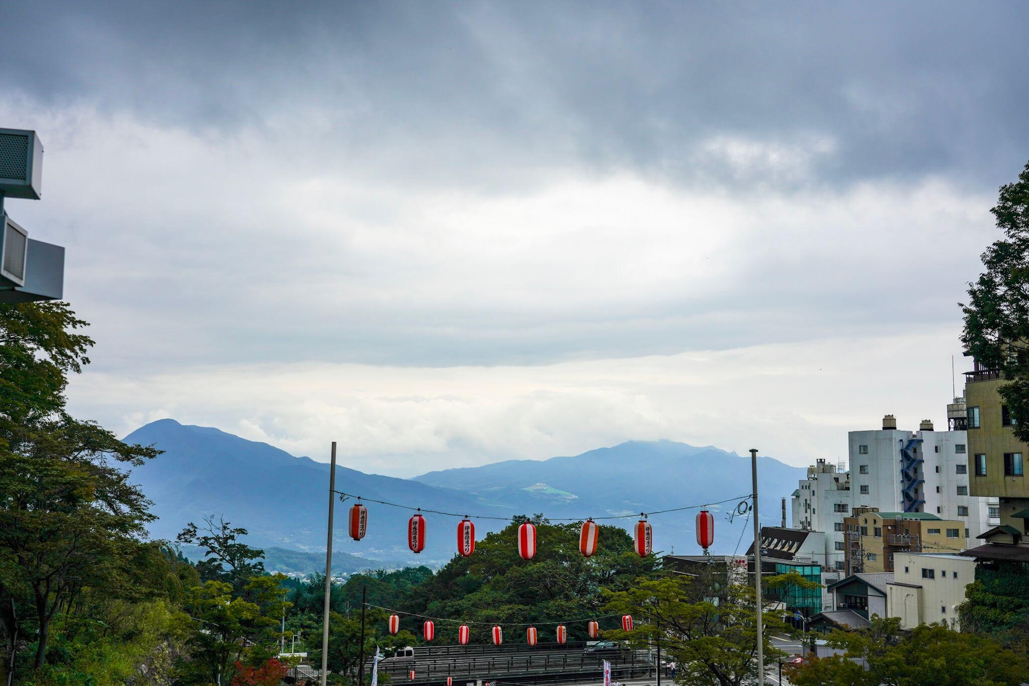 伊香保温泉からの景色